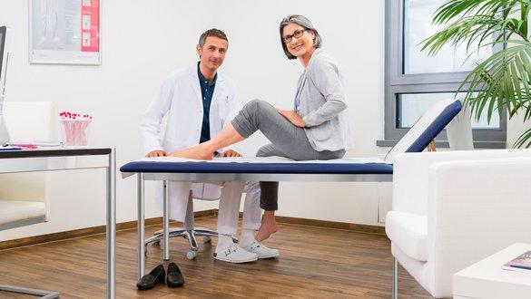 Arztgespraech offenes Bein